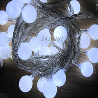 Christmas lights  hotel  restaurant  exterior decorative lighting project lamp 10 meters  ball LED lights string, free shipping