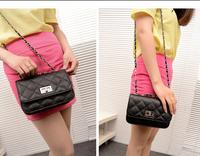 FREE SHIPPING 2014 Luxury Retro woman Handbag Tote Leather women's handbag style knitted shoulder bag PU black BAGS