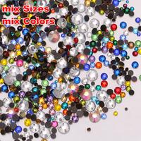 750pcs 20Gram MIX Sizes And Colors Iron-on DMC HOTFIX Rhinestone Crystal Bead Bling Perfect DIY