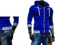 2014 New Fashion European Zipper Wind Sexy Slim Fit Men Hoodies Men Clothing