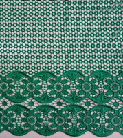 High quality african guipure lace,chemical lace,cord lace,stones lace fabric, DEEPGREEN  5yards/piece  X561