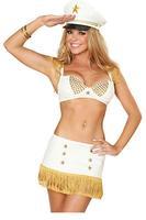 fantasias women Bra Set sexy costumes cosplay Sexy Seductive Exclusive Captain Costume Set ( Bra+ Mini Skirt )