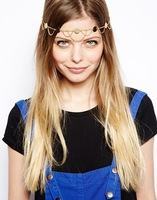 Fashion and hot sale2014 Women Fashion Metal Head Chain Jewelry Headband Head Piece Hair band Accessory (140918)