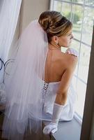 Free Shipping 3 Layer White Cut Edge Fingertip Bridal Veil Wedding Accessories + Comb Veil White Medium-Long Bridal Veil