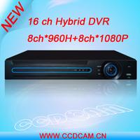 Hybrid DVR, 16CH CCTV  H.264 8Channel CCTV HVR Support 8ch*960H+8ch*1080P