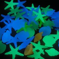 1Set/20pcs Fashion Glow In The Dark Shell Starfish Stone For Aquarium Fish Tank Garden