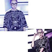 2014 New Fashion Brand KPOP Slim short-sleeved Big Bang GDRAGON GD SAME TYPE men's Tees T-Shirt
