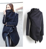 2014 Autumn Winter Woolen Overcoat Women Fashion Slim Wool Blends Trench Woolen Coat