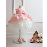 2014 summer Baby clothes Kids girls tutu princess dress children girls show white lace party bow dresses for girls wedding