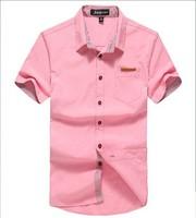 Factory outlets 2014 summer new men's short-sleeved cotton shirt business casual men's shirts JLT8521