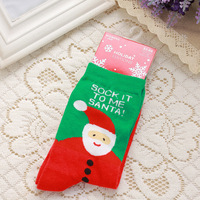 ZHJ0797G New Arrival Snowman Santa Claus Print Winter Warm Cotton Christmas Socks For Children Kids Christmas Gifts