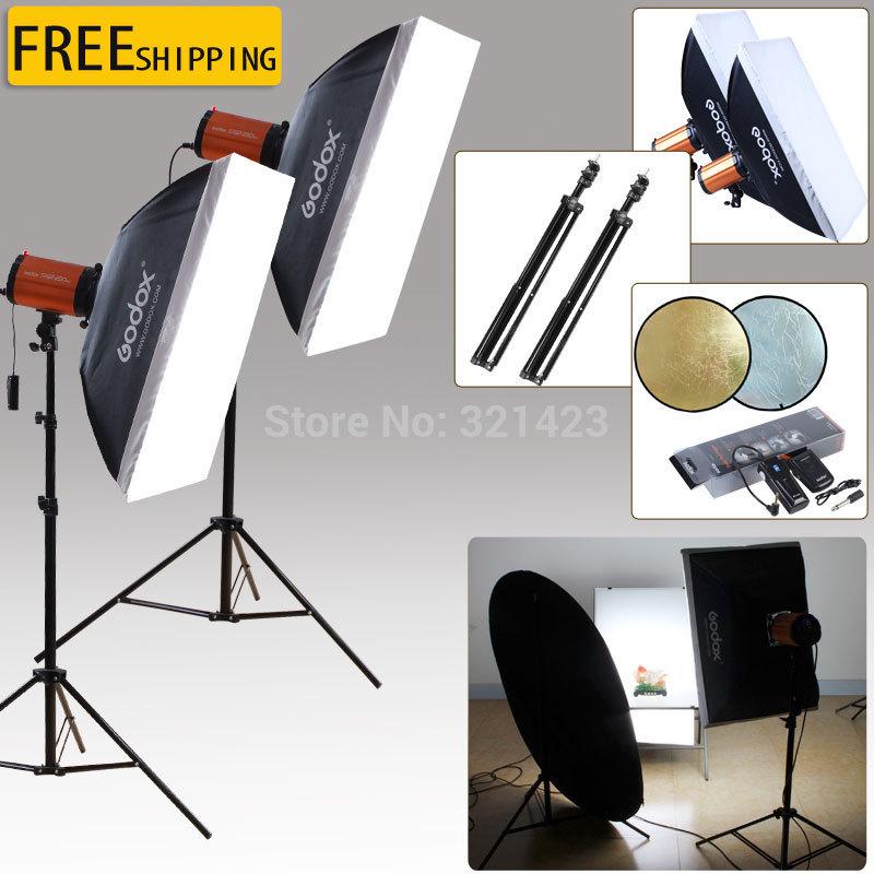 Godox 250w photography light softbox set professional photographic equipment lamps(China (Mainland))