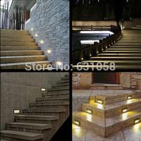 New arrive! Arrow Steel Mesh recessed led lighting outdoor,1.5w waterproof LED Pathway Path Step Stair Wall Garden Yard Lamp