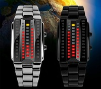 Drop Shipping Fashion Design Skmei Brand Military Sports Watches Binary Electronic LED Watch 3ATM Students Bracelet Wristwatches
