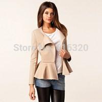 DFNY1073  2014 New Fashion Autumn Women Slim BLazer Coat Casual Jackets Long Sleeve Zipper Suit OL Outerwear