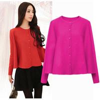 2014 New Design Autumn&Winter Sweater Elegant Fashion Ladies Knitwear Women Loose Colak Cardigans YLS14918