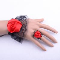 2014 new fashion women bracelet fashion Red flower bracelet jewelry wristband women braceletes luxury brand free shipping