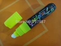 Colorful NEW 10mm Highlighter Fluorescent Wet Liquid Chalk Neon Marker Pen yellow 1PCS