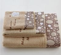 3pcs/lot  Free shipping  100% Cotton  Beach Towels for Adults Face towels  75x35cm 35*35cm 70*140cm