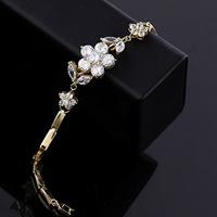 Pulseiras Classic Zircon Bracelet Never Falls Flow Flower Modelling Exquisite Taste In Fashion Jewelry Genuine Factory Direct