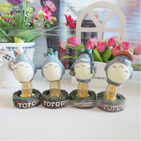 free shipping 4pcs/lot 2014 new arrival Anime movie my neighbor totoro figures dolls with spring best gift for totoro fans