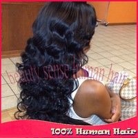 Heavy density 180% Unprocessed Virgin lace front wigs with baby hair & Glueless Full lace Brazilian human hair wigs
