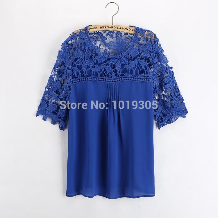 Atacado-Roupas-Blusas-Femininas-Women-Lace-Crochet-Shirts-Blouse