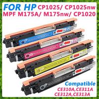 Compatible CE310A CE311A CE312A CE313A, Color Toner Cartridge for HP Color Laserjet Pro MFP M175a M175nw CP1020 CP1025 CP1025nw