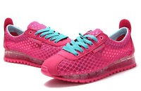 2014 Spring summer Air mesh cushion breathable women's sneaker New style lace-up wedges sport casual shoes Outdoor beach shoes