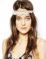 1x Fashion Hair Jewelry Pearl Hair Hoop Faux Pearl Hair Band Elastic Headband Accessories free shipping 140918