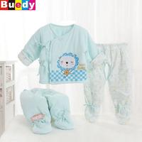 0-4 M Winter coat suit baby clothes newborn infants cotton lace lapel partial Parure winter oupas de bebe Buedy