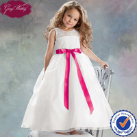Goingwedding Lace Top Organza Skirt Lovely Princess Flower Girl Dresses White And Red HT071