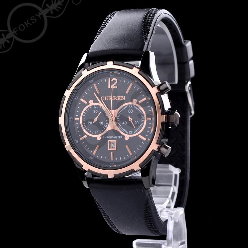 LUXURY Curren Brand Quartz sport Watches Deluxe Men leather watches women Wristwatches Christmas Gifts men wristwatches hot 0661(China (Mainland))