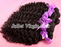 6A Unprocessed Virgin Malaysian Curly Hair 4pcs lot Mix Length 8''-30'',Natural color #1b,100% Virgin Hair Free Shipping