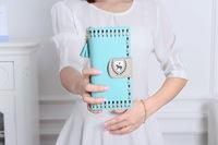 Free Shipping!2015New Fashion Women Leather Wallets Cartoon Horse Multifuncation Bag Phone Bag Women Clutch Purse