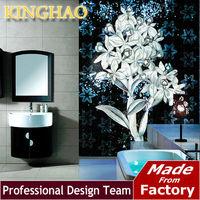 [KINGHAO]Decorative Wall Mural Handmade Backsplash Iridescent Flower Glass Mosaic Picture Kitchen Wall Tile Glass Painting
