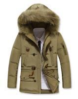 Top Quality Winter Super Warm Man's Long Down Jacket Fashion Down Coat Winterwear White Duck Down M-3XL JK-355