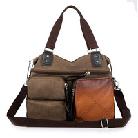 Newest Retro Fashion Cavas Messenger Bag, School Shoulder, Travelling Bag, Women And Man Bag 4 Colors, Wholesales,Free Ship,1105