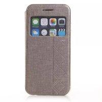 10pcs/lot Window Flip Leather Case Cover For Apple iPhone 6 4.7 Wholesale