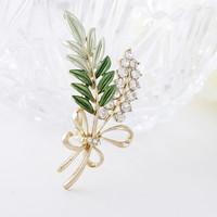 Free Shipping Women Christmas Gift Fashion Alloy Brooch Silver Crystal Jewelry Rhinestone Brooch Women Brooch For WeddingYB-016
