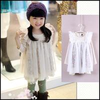 2014 Girls Dress Wool Princess Sequined Halloween Thanks Giving Christmas Gift Birthday 11-004