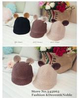 New Brand Cute Ear Winter Female Women Beanies 2014 Warm Vivi Hat for Women Peak Cap Free Shipping