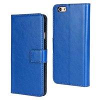 50pcs/lot Retro Crazy Horse Flip Leather Case Wallet Stand Cover for Apple iPhone 6 plus 5.5  Phone Bag