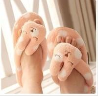Pear Department dimensional wave point stripe rabbit plush bear sandals flip flops home leisure floor mop