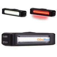 Bicycle Bike Cycling 100LM Front White/Rear Red usb rechargeable LED light 6 Modes