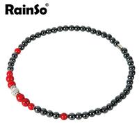 "Free shipping Women Necklace Elegant OL Style Hotsale Christmas Gift Healthful Magnetic Hematite Pendant Jewelry OHN-378G 18"""