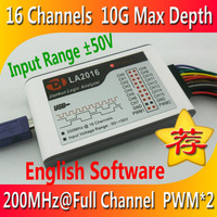 LA2016 USB Logic Analyzer 200M max sample rate,16Channels,10B samples, 2 PWM out