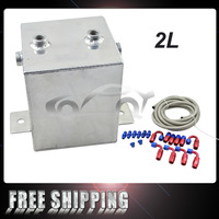 FREE SHIPPING ALLOY SURGE TANK KIT & HOSE & FITTINGS (2 Ltr) MIRROR POLISHED AN6 PQY9431