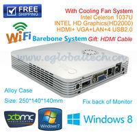 Cheap Smart Mini PC HTPC Industrial PC Home Computer Barebone System with Intel Celeron 1037U Dual Core HD 1080P XBMC Windows