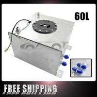 FREE SHIPPING 60L Aluminium Surge tank with sensor Fuel cell 60L with sensor foam inside